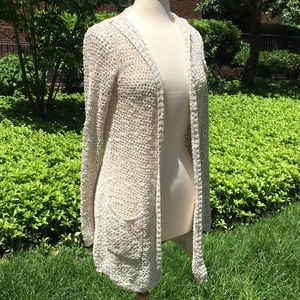 Cynthia Rowley Sweaters - Cynthia Rowley Cream Knit Hooded Cardigan